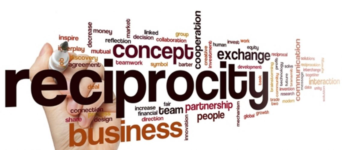"""Make a habit of providing someone with something of value and you will benefit and flourish from """"The Law of Reciprocity"""" too."""
